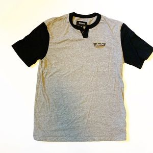 Brixton small in sleeve style t-shirt black & grey